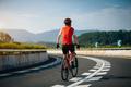 Handsfree riding bike on highway - PhotoDune Item for Sale