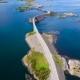 Atlantic Ocean Road Aerial Footage Norway - VideoHive Item for Sale