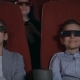 Excited Kids Watching Cartoon in 3D Movie Theater - VideoHive Item for Sale