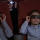 Children Wearing 3d Glasses at Cinema Chair. Brother and Sister Watch 3d Film - VideoHive Item for Sale