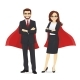 Superhero Business Man and Woman - GraphicRiver Item for Sale
