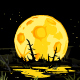 Full Moon in Night Swamp Mystical Background - GraphicRiver Item for Sale
