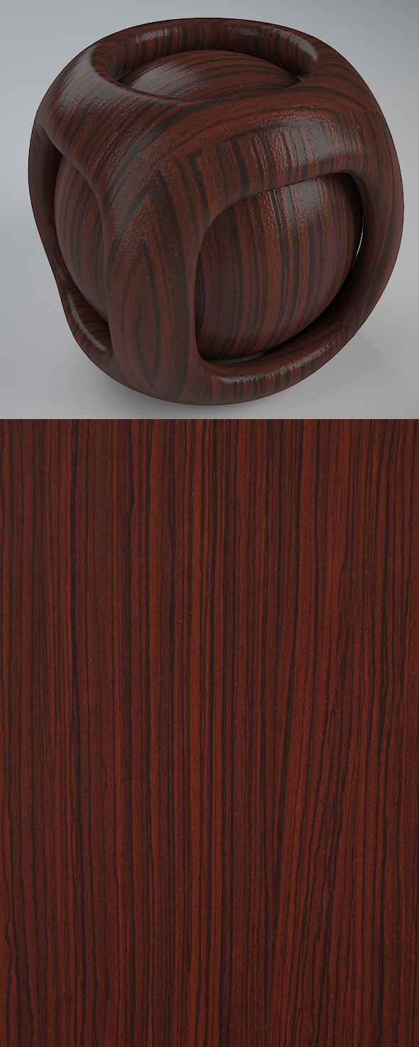 Real Plywood Vray Material Oriental Zebra - 3DOcean Item for Sale