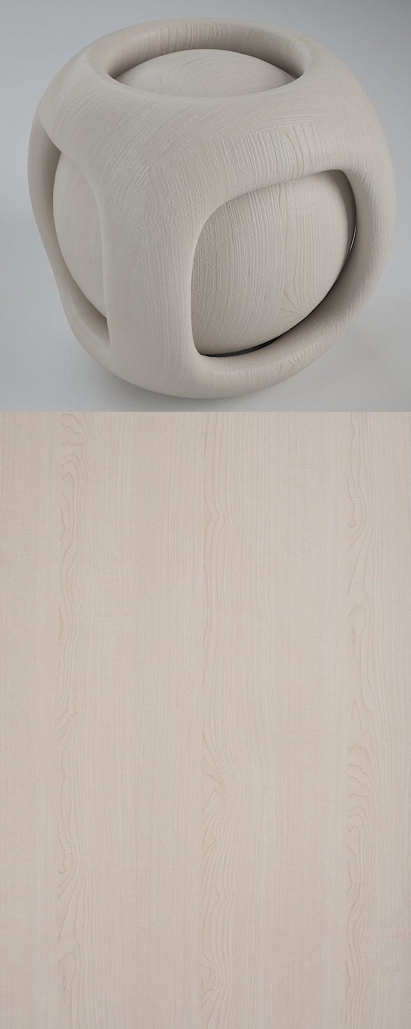 Real Plywood Vray Material Bright Maple - 3DOcean Item for Sale
