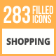 284 Shopping Filled Round Icons - GraphicRiver Item for Sale