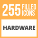 255 Hardware Filled Round Icons - GraphicRiver Item for Sale