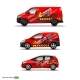 Mocup Set with Advertisement on Red Car, Cargo Van - GraphicRiver Item for Sale