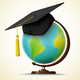 Vector Realistic Graduation Cap on a Globe - GraphicRiver Item for Sale