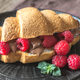 Croissant with chocolate paste   - PhotoDune Item for Sale