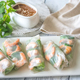 Shrimp rice paper rolls with peanut sauce - PhotoDune Item for Sale