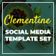 Clementine - Food & Beverage - Flexible Facebook, Instagram & Pinterest Ad Banners - GraphicRiver Item for Sale