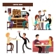 Cafe, Coffee Shop, Restaurant with Drinking Coffee - GraphicRiver Item for Sale