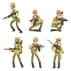 Army Cartoon Man Soldiers in Uniform. Military