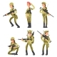 Cartoon Characters Female Soldiers in Various - GraphicRiver Item for Sale