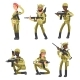 Military Man and Woman Cartoon Characters Isolated - GraphicRiver Item for Sale