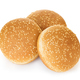 Burger bun with sesame seeds isolated on white background with clipping path. - PhotoDune Item for Sale