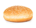 Burger bun with sesame seeds isolated on white background. - PhotoDune Item for Sale