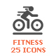 Fitness Filled Icon - GraphicRiver Item for Sale