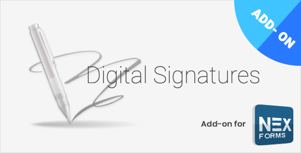 Digital Signatures for NEX-Forms v7.2