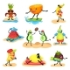 Tropical Humanized Fruit Characters Spending Time - GraphicRiver Item for Sale
