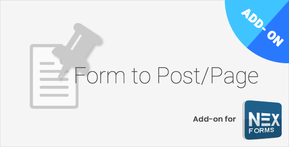 Form to Post/Page for NEX-Forms - CodeCanyon Item for Sale