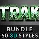 50 3D Text Effects - Bundle Vol. 02 - GraphicRiver Item for Sale