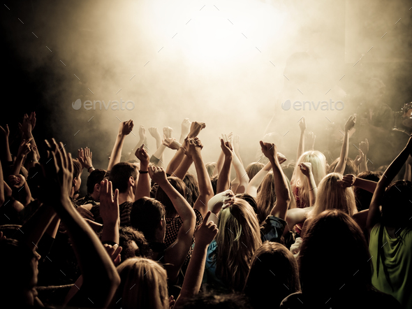 Music fans - Stock Photo - Images