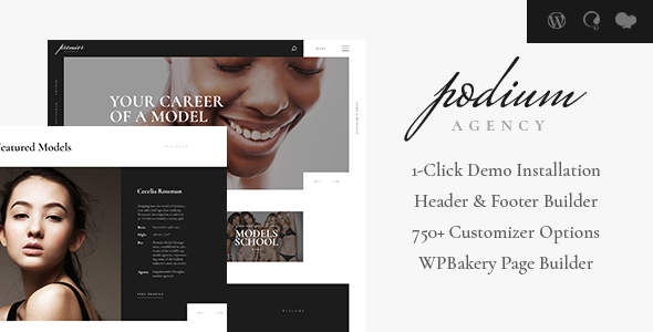 Image of Podium | Model Agency WordPress Theme