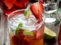 Strawberry mojito cocktail - PhotoDune Item for Sale