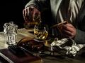 Drinking whiskey at night - PhotoDune Item for Sale