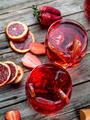 Blood orange strawberry rum punch - PhotoDune Item for Sale
