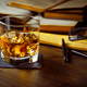 Whiskey on the rocks and scholar books - PhotoDune Item for Sale
