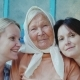 Portrait of an Elderly Woman with Two Adult Granddaughters - VideoHive Item for Sale