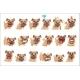 Little Pet Pug Dog Puppy With Collar Set Of Emoji