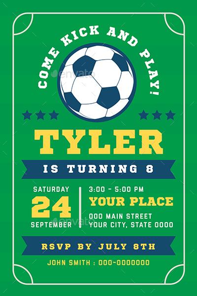 Sports Birthday Invitation By Vector Vactory Graphicriver