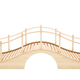 Wooden bridge isolated on white background. 3D rendering. - PhotoDune Item for Sale