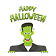 Happy Halloween and Frankenstein - GraphicRiver Item for Sale