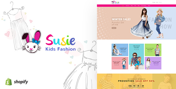 Susie | Kids Fashion Sectioned Shopify Theme - Shopify eCommerce