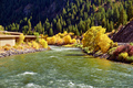 Landscape with autumn trees and river - PhotoDune Item for Sale