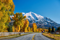 Highway in Colorado Rocky Mountains at autumn - PhotoDune Item for Sale
