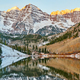 Maroon Bells and Maroon Lake at sunrise - PhotoDune Item for Sale