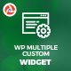 Wp Multiple Widget - CodeCanyon Item for Sale