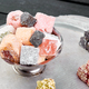 Set of various Turkish delight in bowl on metal tray - PhotoDune Item for Sale