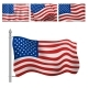 Independence Day USA Flags United States American