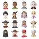 The Human Race Cartoon Icons