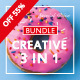 Special Creative Bundle 3 IN 1 PowerPoint Templates