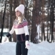 Skating. Young Woman Enjoys Skating on a Rink in the Winter Forest - VideoHive Item for Sale