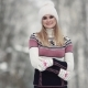 Cute Girl in Winter Forest Smiling and Posing at Camera - VideoHive Item for Sale