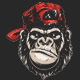 Monkey's Head in a Baseball Cap - GraphicRiver Item for Sale