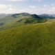 Aerial of Long Carpathian Mountain Ranges with Blurred Cloud Shades in Summer - VideoHive Item for Sale